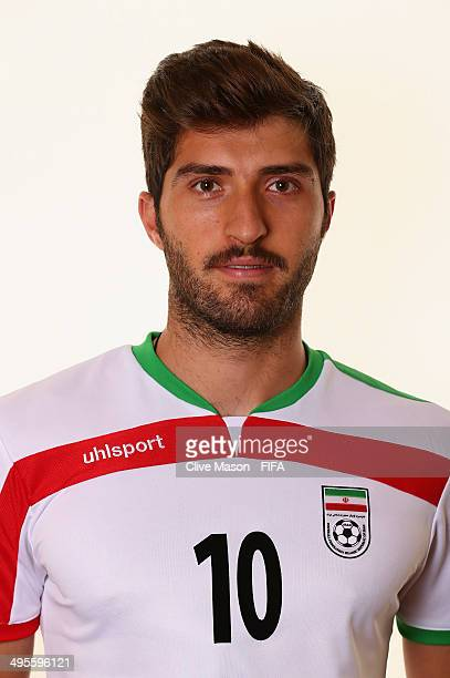 Karim Ansari Fard of Iran poses during the official FIFA World Cup 2014 portrait session on June 4 2014 in Sao Paulo Brazil