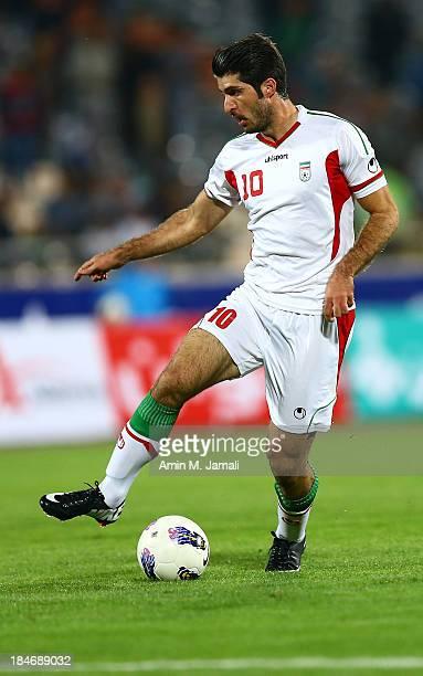 Karim Ansarifard during AFC Asian Cup Qualifiers between Iran and Thailand at Azadi Stadium Tehran Iran on October 15 2013 in Tehran Iran