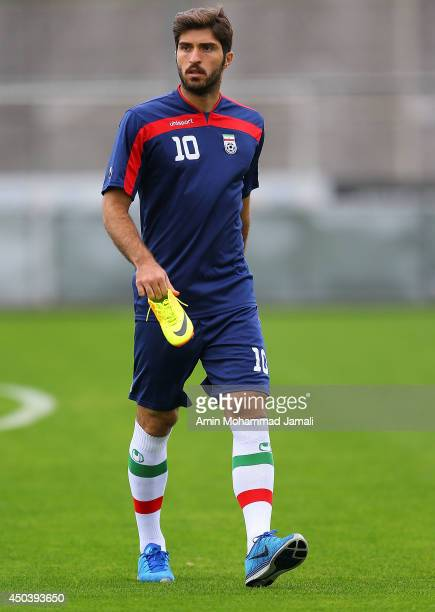Karim Ansarifard during the Iran training session on June 10 2014 in Sao Paulo Brazil