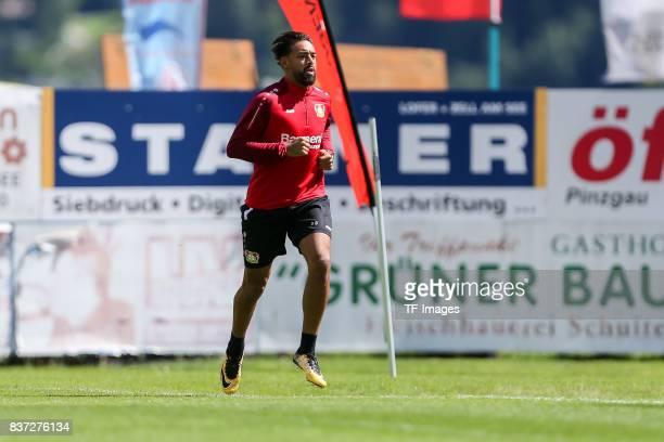 Karim Bellarabi of Bayer 04 Leverkusen controls the ball during the Training Camp of Bayer 04 Leverkusen on July 25 2017 in Zell am Ziller Austria