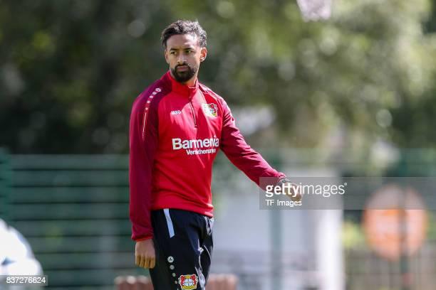 Karim Bellarabi of Bayer 04 Leverkusen looks on during the Training Camp of Bayer 04 Leverkusen on July 25 2017 in Zell am Ziller Austria