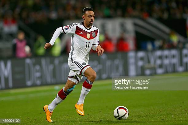 Karim Bellarabi of Germany runs with the ball during the EURO 2016 Group D Qualifier match between Germany and Gibraltar at Grundig Stadion on...