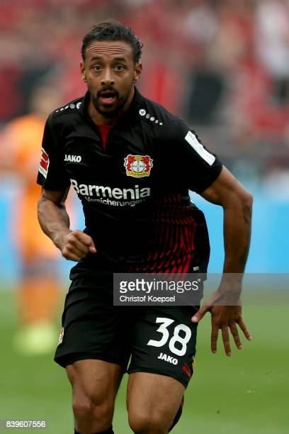 Karim Bellarabi of Leverkusen is seenq during the Bundesliga match between Bayer 04 Leverkusen and TSG 1899 Hoffenheim at BayArena on August 26 2017...