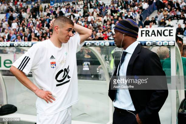 Karim Benzema and Sylvain Wiltord of Lyon during Gambardella Final match between Lyon and Strasbourg on May 27th 2006 Alain Gadoffre / Icon Sport