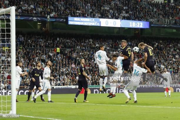 Karim Benzema of Real Madrid Fernando Llorente of Tottenham Hotspur FC Sergio Ramos of Real Madrid Eric Dier of Tottenham Hotspur FC Raphael Varane...