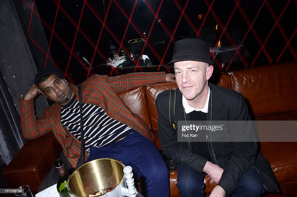 Karim Bonnet from 'Impasse De La Defense' and Franck Knight attend the 'Crazy Chic Party' For Antoine Kruk's 'Crazy' Book Launch Hosted by Eyrolles...