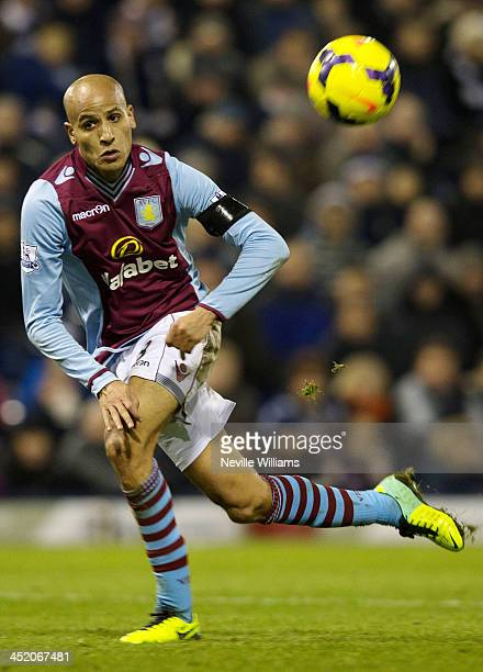 Karim El Ahmadi of Aston Villa during the Barclays Premier League match between West Bromwich Albion and Aston Villa at The Hawthorns on November 25...