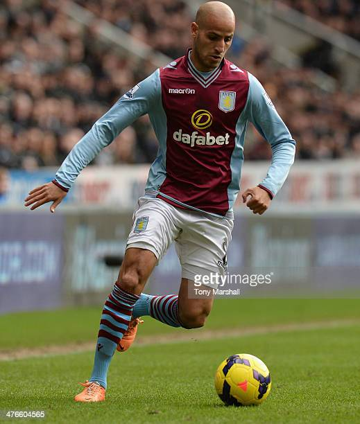 Karim El Ahmadi of Aston Villa during the Barclays Premier League match between Newcastle United and Aston Villa at St James' Park on February 23...