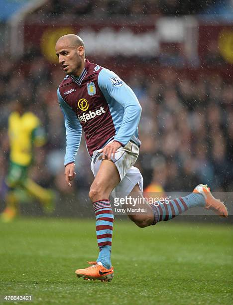 Karim El Ahmadi of Aston Villa during the Barclays Premier League match between Aston Villa and Norwich City at Villa Park on March 2 2014 in...