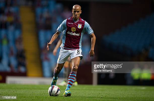 Karim El Ahmadi of Aston Villa during the Capital One Cup Second Round match between Aston Villa and Rotherham United at Villa Park on August 28 2013...