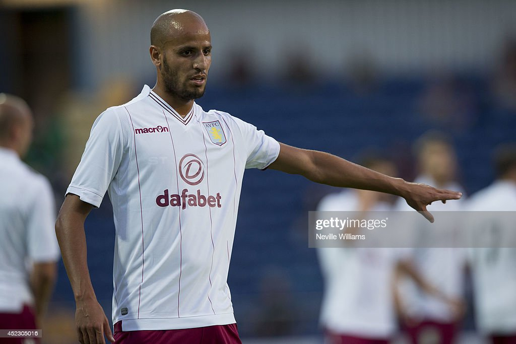 Karim El Ahmadi of Aston Villa during the pre season friendly match between Mansfield Town and Aston Villa at the One Call Stadium on July 17, 2014 in Mansfield, England.