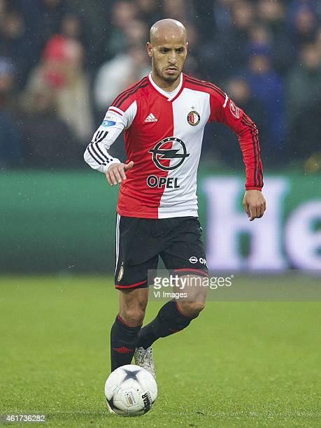 Karim El Ahmadi of Feyenoord during the Dutch Eredivisie match between Feyenoord and FC Twente at the Kuip on January 18 2015 in Rotterdam The...