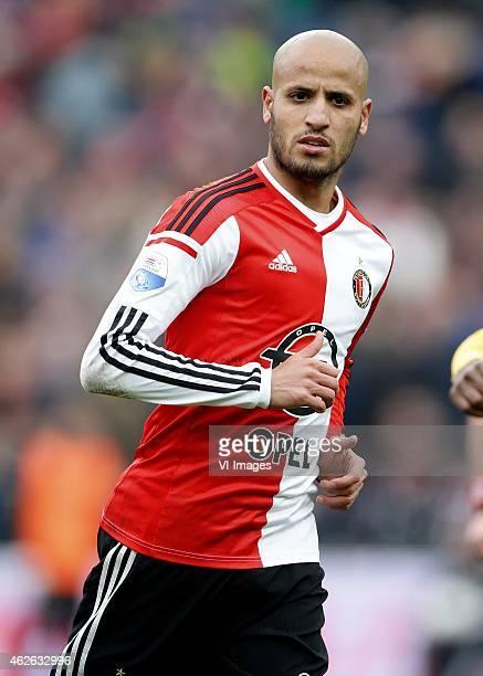 Karim El Ahmadi of Feyenoord during the Dutch Eredivisie match between Feyenoord and ADO Den Haag at De Kuip on february 1 2015 in Rotterdam the...