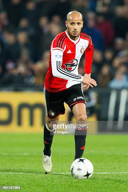 Karim El Ahmadi of Feyenoord during the Dutch Eredivisie match between Feyenoord and Excelsior Rotterdam at the Kuip on February 22 2015 in Rotterdam...