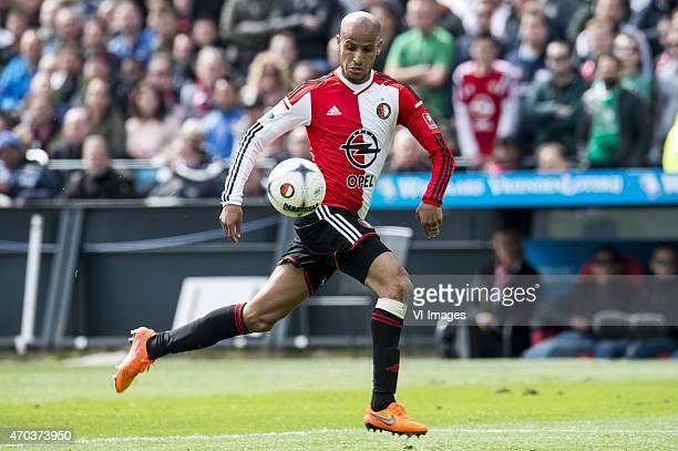 Karim El Ahmadi of Feyenoord during the Dutch Eredivisie match between Feyenoord and Go Ahead Eagles at the Kuip on April 19 2015 in Rotterdam The...