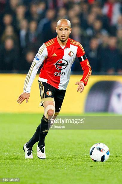Karim El Ahmadi of Feyenoord during the Dutch Eredivisie match between Feyenoord Rotterdam and Excelsior Rotterdam at the Kuip on April 02 2016 in...