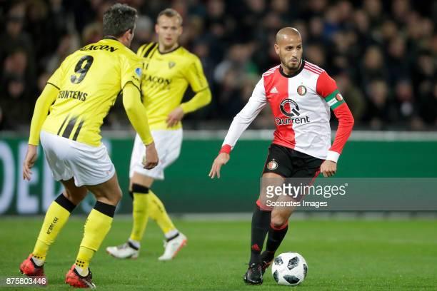 Karim El Ahmadi of Feyenoord during the Dutch Eredivisie match between Feyenoord v VVVVenlo at the Stadium Feijenoord on November 18 2017 in...