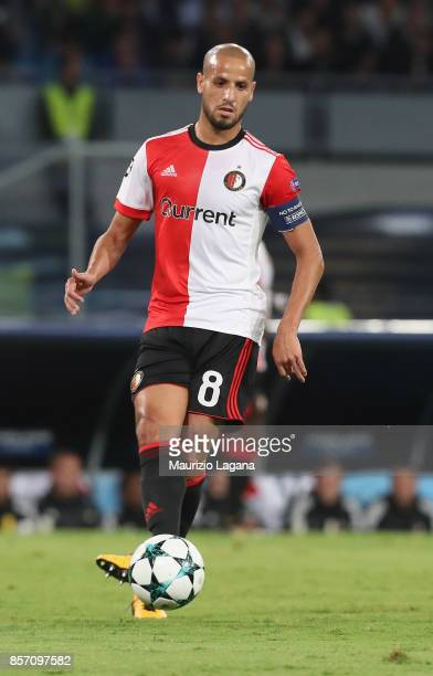 Karim El Ahmadi of Feyenoord during the UEFA Champions League group F match between SSC Napoli and Feyenoord at Stadio San Paolo on September 26 2017...