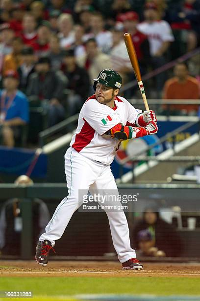 Karim Garcia of Mexico bats against Canada during the World Baseball Classic First Round Group D game on March 9 2013 at Chase Field in Phoenix...