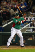 Karim Garcia of Mexico bats against USA during the World Baseball Classic First Round Group D game on March 8 2013 at Chase Field in Phoenix Arizona