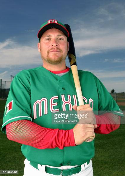 Karim Garcia of Mexico poses for a portrait during the World Baseball Classic Photo Day on March 5 2006 in Tuscon Arizona