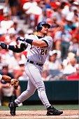 Karim Garcia of the Detroit Tigers bats against the St Louis Cardinals on June 13 1999 at Busch Stadium in St Louis Missouri