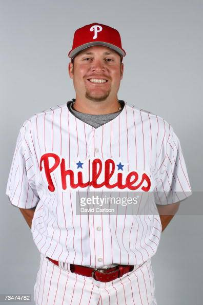 Karim Garcia of the Philadelphia Phillies poses during photo day at Bright House Networks Field on February 24 2007 in Clearwater Florida