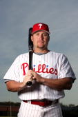 Karim Garcia of the Philadelphia Phillies poses during Photo Day on February 24 2007 at Brighthouse Networks Field in Clearwater Florida