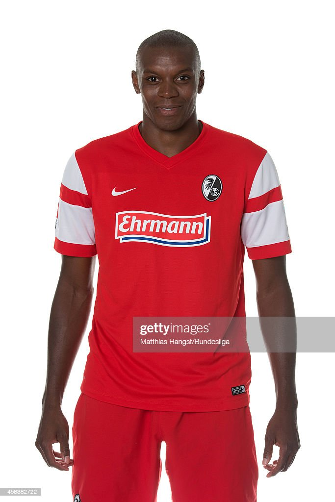 Karim Guede poses during the SC Freiburg Media Day at Mage Solar Stadion on August 2, 2014 in Freiburg im Breisgau, Germany.