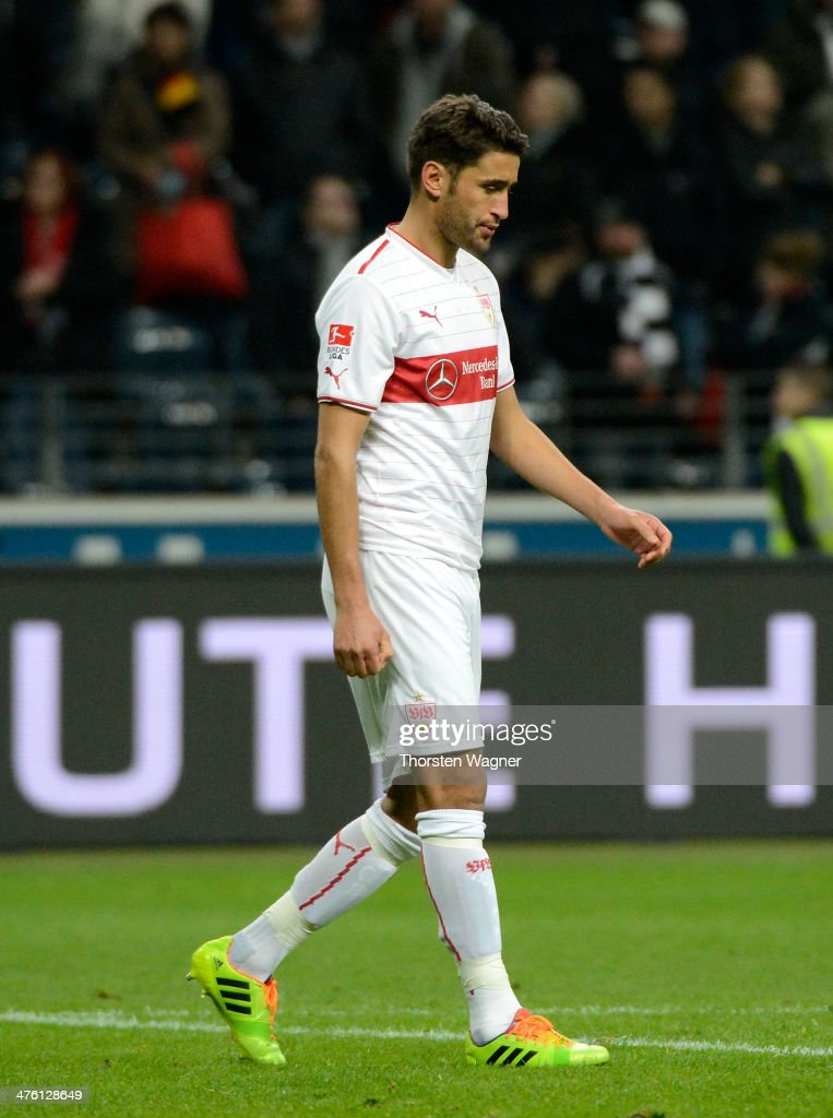 Karim Haggui of Stuttgart leaves the pitch dejedted after loosing the Bundesliga match between Eintracht Frankfurt and VFB Stuttgart at Commerzbank...