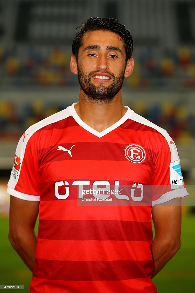 Karim Haggui poses during the team presentation of Fortuna Duesseldorf at EspritArena on July 2 2015 in Duesseldorf Germany