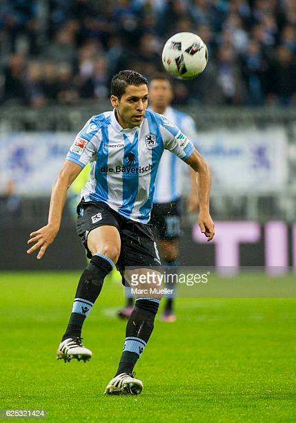 Karim Matmour of 1860 Muenchen during the Bundesliga match between TSV 1860 Muenchen and 1 FC Kaiserslautern at Allianz Arena on November 21 2016 in...