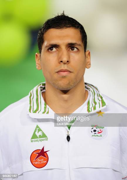 Karim Matmour of Algeria during the FIFA2010 World Cup qualifying match between Egypt and Algeria at the Cairo International Stadium on November 14...