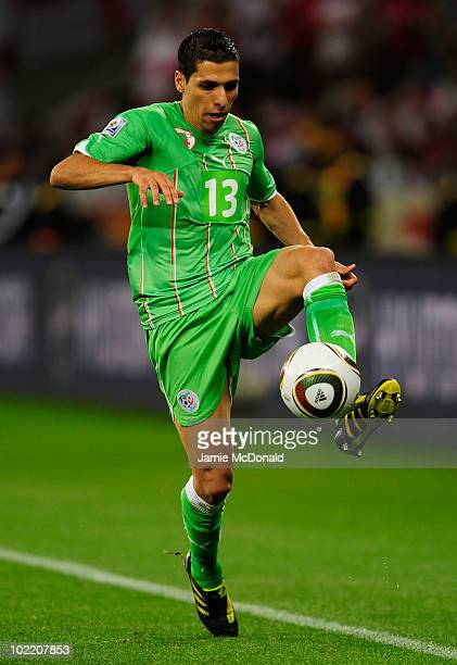 Karim Matmour of Algeria in action during the 2010 FIFA World Cup South Africa Group C match between England and Algeria at Green Point Stadium on...