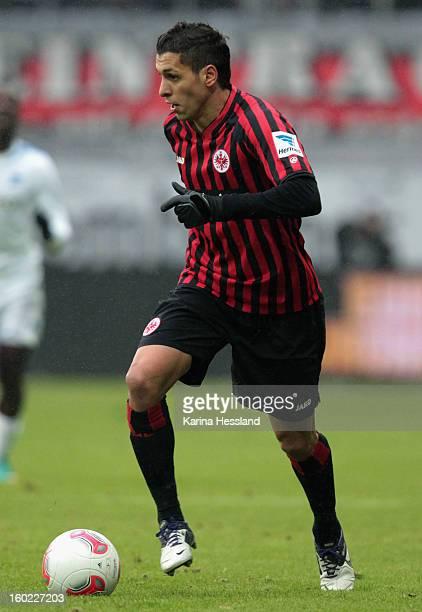 Karim Matmour of Frankfurt during the Bundesliga match between Eintracht Frankfurt and 1899 Hoffenheim at CommerzbankArena on January 26 2013 in...