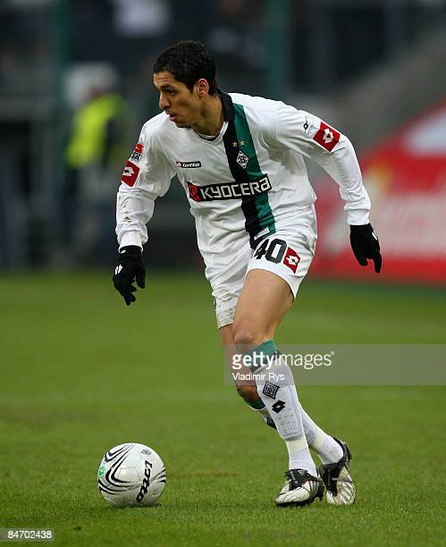 Karim Matmour of Gladbach in action during the Bundesliga match between Borussia Moenchengladbach and 1899 Hoffenheim at the Borussia Park on...
