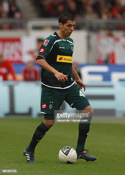 Karim Matmour of Gladbach runs with the ball during the Bundesliga match between VfB Stuttgart and Borussia Moenchengladbach at MercedesBenz Arena on...