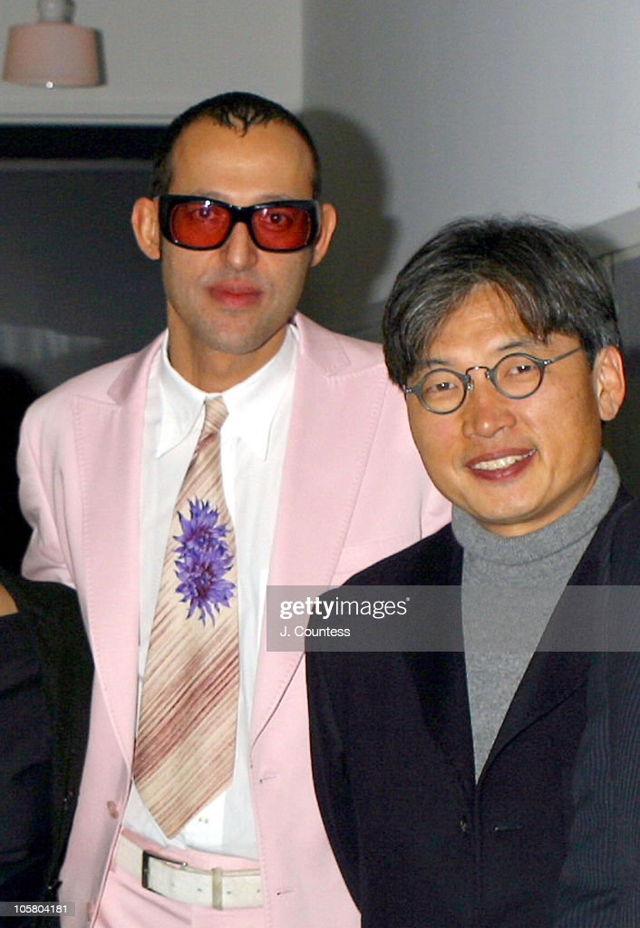 Karim Rashid and David Chu during Esquire Hosts 'Designing Men' Gala Event at The Esquire Apartment at Trump World Tower in New York City, NY, United States.