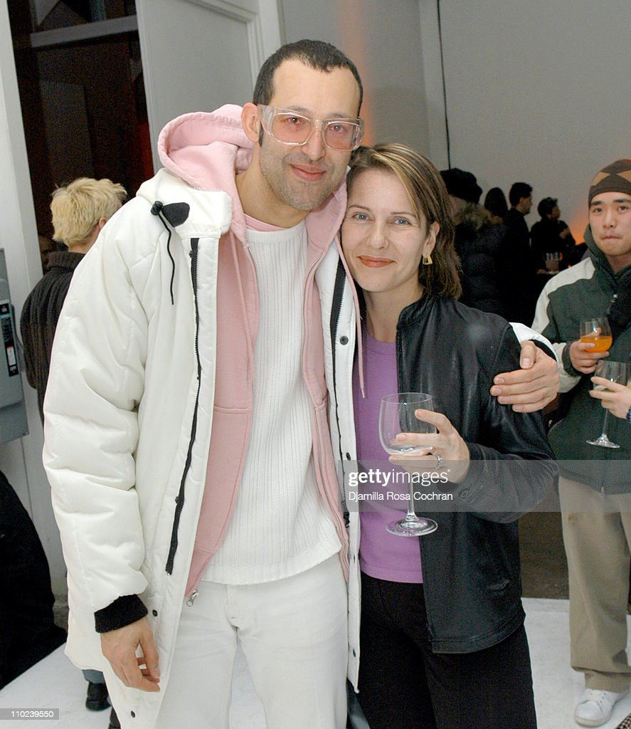 Karim Rashid and Paola Antonelli during Orange Alert Dutch Design in New York City at Drive In Studios in New York City, New York, United States.