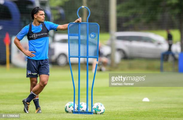 Karim Rekik during the second day of the training camp of Hertha BSC on July 9 2017 in Bad Saarow Germany