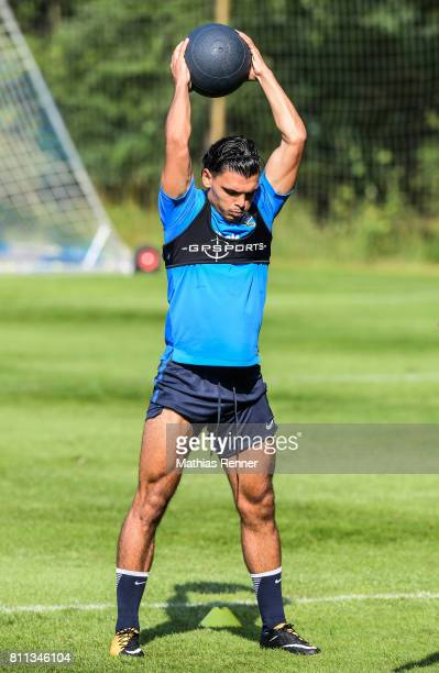 Karim Rekik during the second day of the training camp of Hertha BSC on july 8 2017 in Bad Saarow Germany
