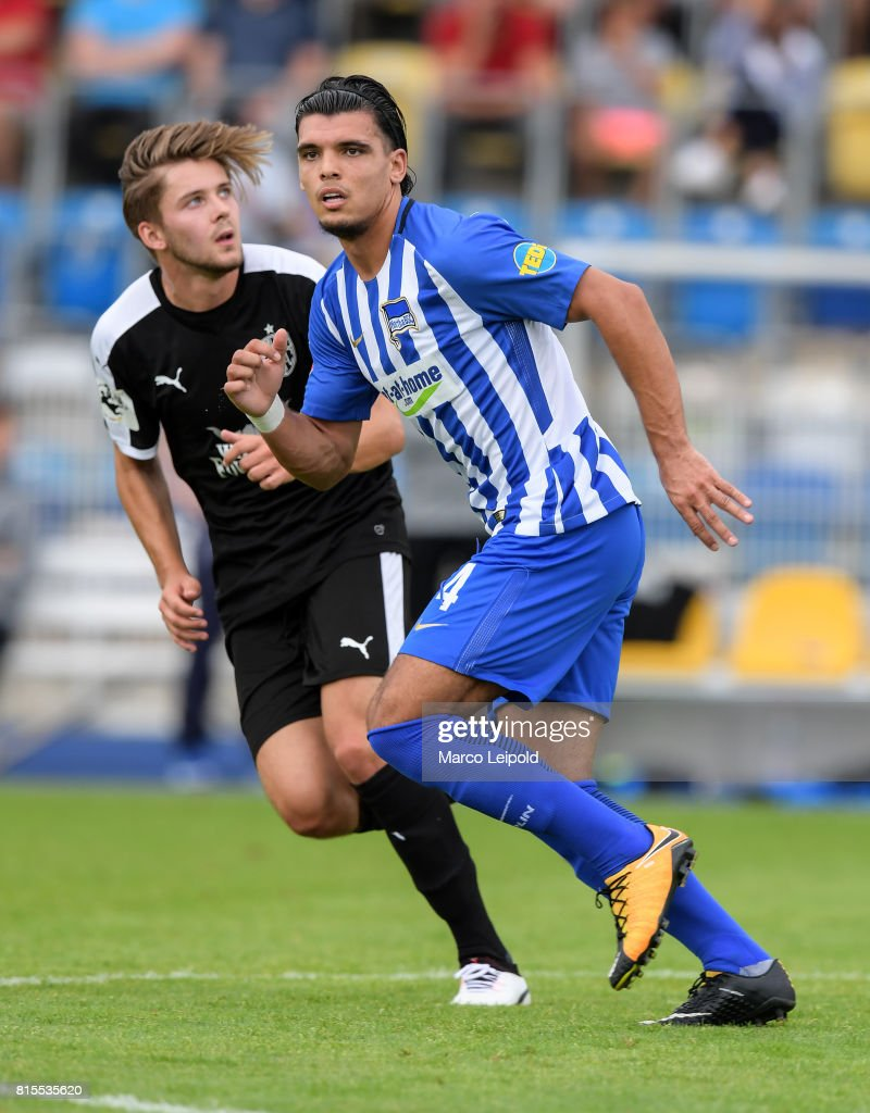 Karim Rekik of Hertha BSC during the test match between Carl-Zeiss Jena and Hertha BSC on july 16, 2017 in Jena, Germany.