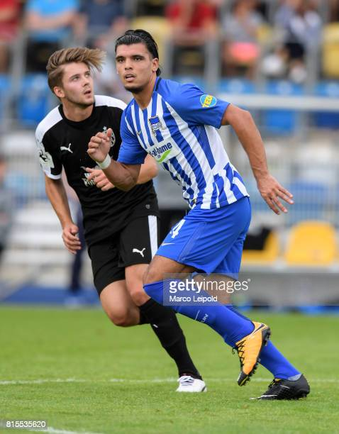 Karim Rekik of Hertha BSC during the test match between CarlZeiss Jena and Hertha BSC on july 16 2017 in Jena Germany