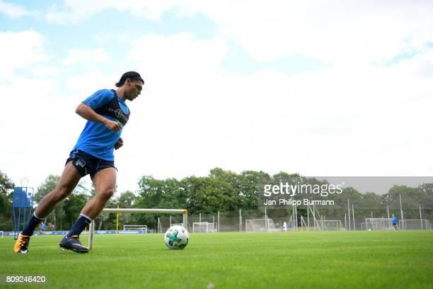 Karim Rekik of Hertha BSC during the training on July 5 2017 in Berlin Germany
