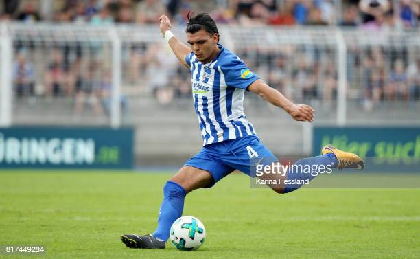 Karim Rekik of Hertha during the Preseason Friendly match between FC Carl Zeiss Jena and Hertha BSC on July 16 2017 in Jena Germany