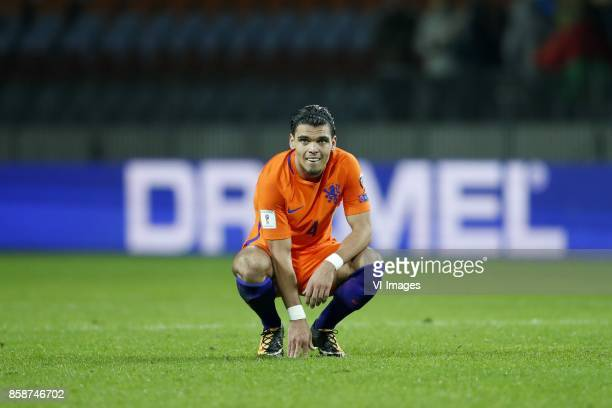 Karim Rekik of Holland during the FIFA World Cup 2018 qualifying match between Belarus and Netherlands on October 07 2017 at Borisov Arena in Borisov...