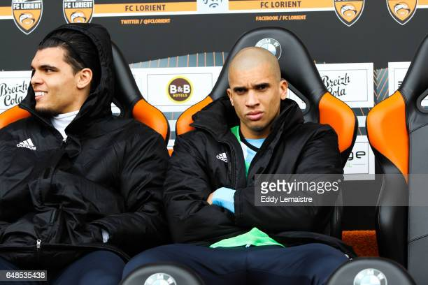 Karim Rekik of Marseille and Matheus Doria Macedo of Marseille during the French Ligue 1 match between Lorient and Marseille at Stade du Moustoir on...