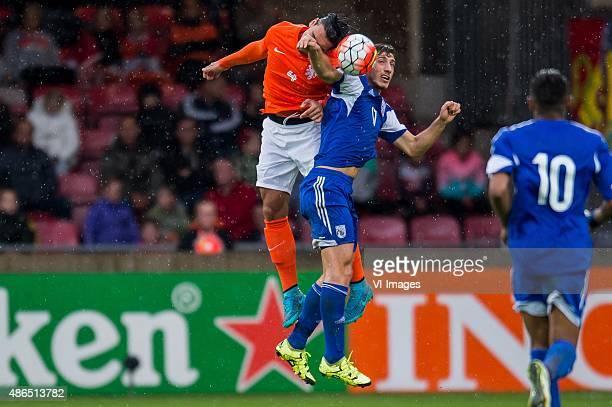 Karim Rekik of Netherland U21 Minas Antonio of Cyprus U21 during the Uefa EURO 2017 qualifying match between Netherlands U21 and Cyprus U21 on...