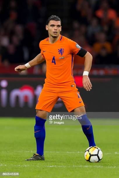 Karim Rekik of Netherlands controls the ball during the FIFA 2018 World Cup Qualifier between Netherlands and Sweden at Amsterdam ArenA on October 10...
