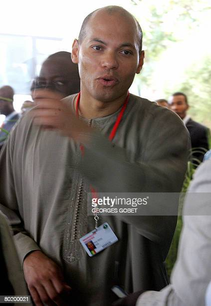 Karim Wade Secretary General of the agency which is organising the OIC summit and son of Senegalese President Abdoulaye Wade is pictured at a hotel...
